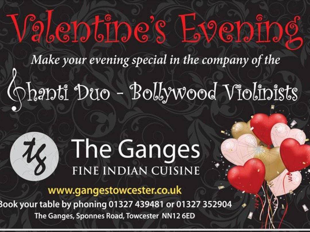 Valentines Evening at the Ganges Towcester